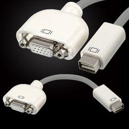 Wholesale 100PCS Mini DVI to VGA Adapter Cable for NoteBook iMac Mac Mini MacBook PowerBook