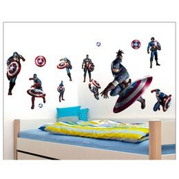2 Style home 3D The Avengers nursery decoration DIY kids room wall decal removeable wallpaper mural sticker