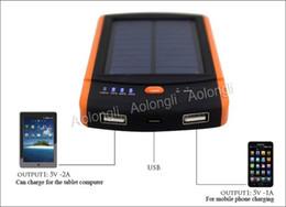 2USB порта Портативный Солнечное зарядное устройство Power Bank 6000mAh солнечное зарядное панели солнечных батарей внешняя батарея для Iphone 6 плюс 5 секунд Samsung S5 S6 от Производители портативное зарядное устройство панель солнечной батареи