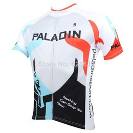 Wholesale-Hot sale 2015 New Men Cycling Jersey Short sleeve Bike Shirt Clothing Paladin Sport Red Blue Black Helmet S-3XL