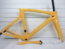 Wholesale 2015 road bike frame yellow DIY color bicycle frame T1000 BB68 all color available such as black red bob sky