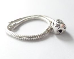 Wholesale 925 Sterling Silver plated Snake Bracelets Chain With Clasp cm cm Compatible European charms Style Bracelet