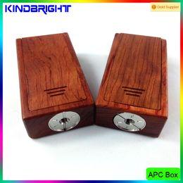 Wholesale Hot Selling APC Wood Box Mod V2 Dual Battery Mod vs Sigelei Cloupor Ifancy Ibox Mini Bomber Box Mod