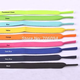 Wholesale-50pcs lot Top Quality Neoprene Sunglasses Glasses Outdoor Sports Band Strap Head Band Floater Cord Eyeglass Stretchy holder