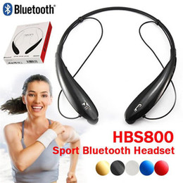 Wholesale New HB S HBS Wireless Bluetooth Stereo Headset Earphone for Iphone plus S S Samsung Note s4 s5 TONE HBS800 Mobile