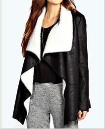 Desconto women s faux fur vest New Outono Inverno Feminino Faux Fur Vest Mulheres mangas Vest Outerwear Plus Size Brasão Vest Mulheres Long Colete frete grátis