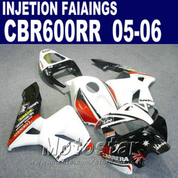 Popular white fairing! Injection Molding for HONDA CBR 600 RR fairing 2005 2006 cbr600rr 05 06 cbr 600rr bodyworks 0BHT
