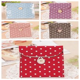 Wholesale New Arrivals Women s Lady s Sanitary Napkin Storage Bags Full Dots Cotton Size CM JH47