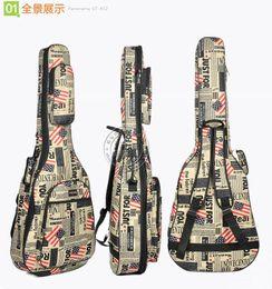 Descuento guitarra acústica de nylon Oxford paño periódico de la guitarra acústica bolsa 4041 pulgadas folk mochila conjunto de impermeable espesamiento caso bolsa