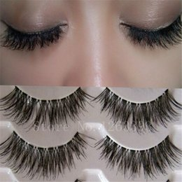 Wholesale 1 Box Pairs False Eyelashes Messy Cross Thick Natural Fake Eye Lashes Professional Makeup Tips Bigeye Long False Eye Lashes