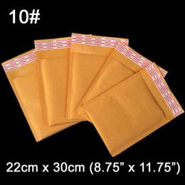 Burbuja de papel kraft en venta-Wholesale-22 x 30 cm (8,75 x 11,75 pulgadas) Burbuja de papel Kraft Bolsa acolchada Mailer Bolsas para embalaje en blanco Sobres del correo aéreo 50 unidades / lote