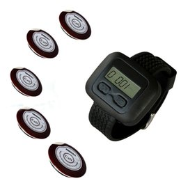 Wholesale SINGCALL wireless waiter pager system of table button and pc of wrist watch reciever