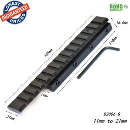 Wholesale D2006 B queue d aronde Weaver Rail Picatinny adaptateur mm à mm mm Portée tactique Extend Mont