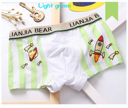 Free freight boy pure cotton rocket comfort boxer underwear children's underwear boxers
