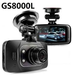 2017 cámaras de guión recuadro negro GS8000L Full HD 1080P 2.7inch del coche del vehículo DVR cámara grabadora de vídeo Dash Cam G-sensor de visión nocturna HDMI Negro Caja de DHL cámaras de guión recuadro negro outlet