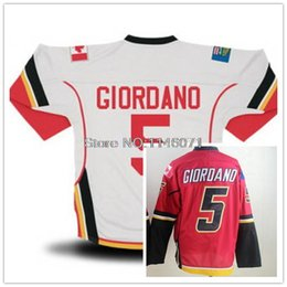 Wholesale Cheap Price Mark Giordano ice Hockey Jersey Red White Newest Giordano Jerseys Online Sale Accept Mix Orders