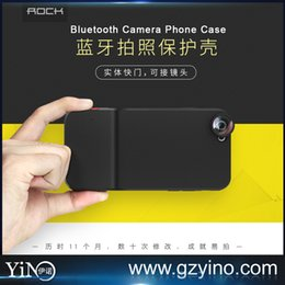 Wholesale Rock Easy shot Series For iPhone s Plus Case with Bluetooth shutter can easily press to take photos fisheye macro wide lens