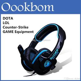 WCG WPC Sades SA-708 recommandée Gaming Headset Professional Computer Pour PC jeu Dota 2 LOL CS Avec microphone Retail Package à partir de jeu casque professionnel fabricateur