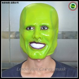 2015 Hot!!!-Halloween Party Cosplay Movies THE MASK Jim Carrey LATEX MASK - Halloween Costume Prop Free shipping