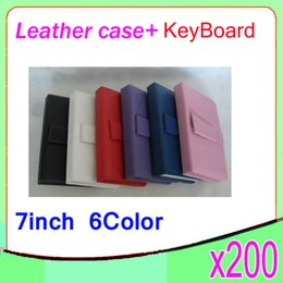 DHL 200PCS Tablet Folding leather case and keyboard with USB Interface for 7 inch MID Tablet PC ZY-L11-1