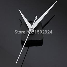 2015 Nuevo blanco triángulo manos de bricolaje de cuarzo negro reloj de pared Mecanismo de Reparación Parte de Reparación desde relojes de cuarzo piezas proveedores