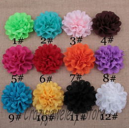 20pcs lot Eyelet Cloth Flowers Fabric Chiffon Eyelet Flower Children Hair Accessories DIY Baby Christmas Headwear Girl Photography Props