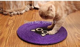 Tampons chat à gratter à vendre-Chats gros-Sisal gratter tapis pad chaton jouet scratcher violet grande taille noire