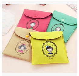 Wholesale Plumblossom Characters napkins package admission package sanitary napkins storage bag women packet multi function Cosmetic Organizer Bag