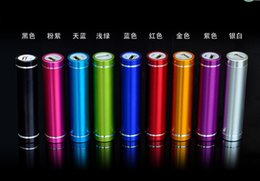 Wholesale 2600mAh Portable Cylinder Power Bank External Backup Battery Charger Emergency Power Pack for all Mobile Phones fast shipping