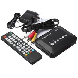 Wholesale 1080P Full HD HDD Media Player INPUT SD USB HDD Output HDMI AV VGA AV YPbpr Support DIVX AVI RMVB MP4 H FLV MKV Music Movie