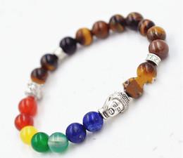 Wholesale New Products mm Natural Tiger Eye Stone beads Chakra Buddha Bracelet Yoga Meditation Energy Jewelry