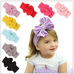 2016 Infant Bow Headbands Girl Cotton Headwear Kids Baby Photography Props NewBorn Bow Hair Accessories Baby Hair bands