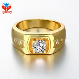 2015 New Arrival Fashion 18K Yellow Gold & White Gold & Rose Gold Plated Jewelry Top Quality CZ Diamond Wedding Rings for Men ZR141
