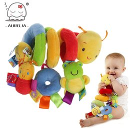 Wholesale Hot Sale Plush Baby Toy Educational Newborn Mobile Baby Rattles Toys For Kids Colorful Caterpillar Baby Stroller Toys Hanging