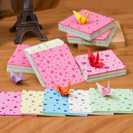 Wholesale Sheet China Wholesale - 150 Sheets Colors Square Origami Folding Paper Lovely Bear Love Heart Clover Patterned Papers