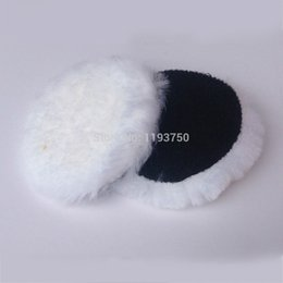 "Wholesale Car Polish Pads - 2pc 180mm 7"" inch Wool Polisher Bonnet Car Polishing Pads For Car Care hook&loop Free Shipping"