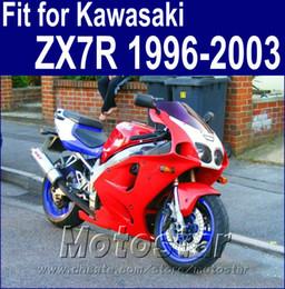 Full fairing kit for Kawasaki ZX7R 1996 - 2001 2002 2003 Ninja fairings motobike ZX 7R 96-03 red black bodykits AQ32