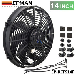 Wholesale TANSKY New quot inch Electric EPMAN Universal Cooling Radiator Fan Curved S Blade For Radiator Oil Cooler EP RCFS14F