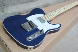 The Wholesale-Factory Customzied Electric Guitar with Navy Blue Body and String-thru-body design and can be Changed