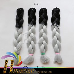 Ombre Synthetic Braiding Hair Bulks extensions 100G 24 inch Two Tone Ombre braid hair bulk Jumbo braid hair extensions