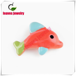 Hot sale high polished red fish origami owl floating charms for magnetic living photo memory glass lockets