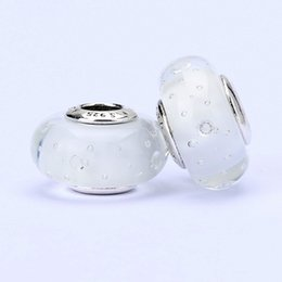 Wholesale 10pcs Pandora Style charm faceted murano glass beads loose beads thread bead beautiful beads jewelry T10