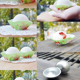 Wholesale 1x Fashion D Aluminum Sphere Bath Bomb Cake Pan Tin Baking Pastry Ball Mold Size Can Choose