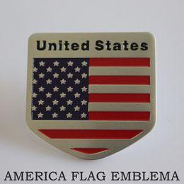 Wholesale Car Decoration Sticker UNITED STATES Flag Emblema Drapeau Americain Side Badge America Bandeira Insignia USA Bandeira Adesivo