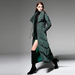 New Fashion 2015 Winter Women Jacket Coat Brand Design Fashion Thickening Warm White Duck Long Down Jacket