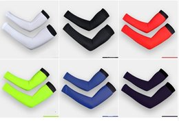 Wholesale 6 Color Cooling Lycra Arm Sleeves Sun Protective UV Cover Pair Variety Color Cycling Arm Warmers