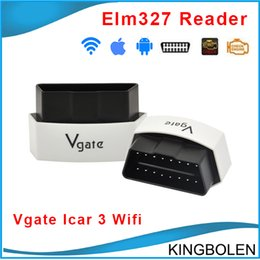 Wholesale Vgate iCar WIFI ELM327 OBDII Car Diagnostic interface scan tool icar3 new elm327 wifi model