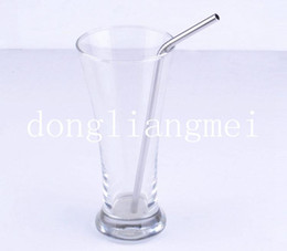 Wholesale 200pc Metal Drinking Straw Stainless Steel Bend Drinking Straw Beer and Fruit Juice Straws Z67