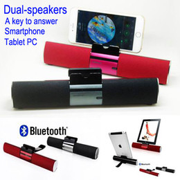 Wholesale 2015 Brand iKANOO Portable Wireless Bluetooth speaker Built in Mic Handsfree Call Music Speakers SOUND BAR For Smartphone tablet PC ipod
