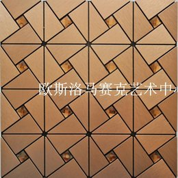 Wholesale Mosaic comes with a metal aluminum composite panel mosaic wall stickers gum adhesive DIY background stock M10